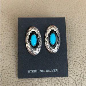 Sterling Silver & Turquoise Southwestern Earrings